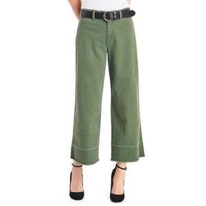 Gap Green Wide Leg Crop Pants